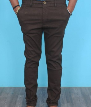 Men's brown cotton casual/formal trouser