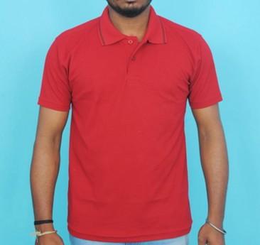 Half Sleeve Polo Collar Casual T-Shirt (Maroon colour Tee)
