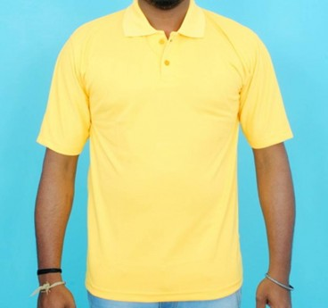Half Sleeve Polo Collar Casual T-Shirt (Yellow colour Tee)
