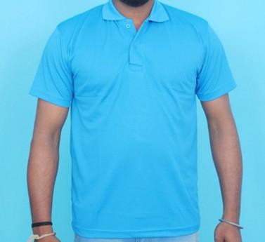 Half Sleeve Polo Collar Casual T-Shirt (Blue colour Tee)