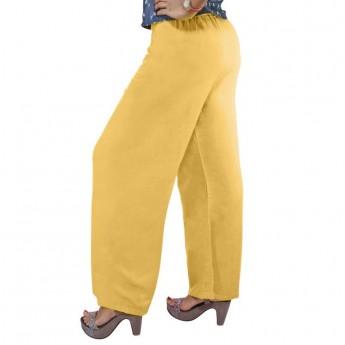 Women's Rayon Palazzo [Yellow]