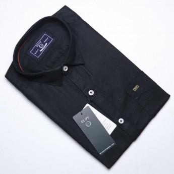 Men's black plain casual shirts