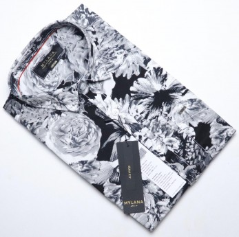 Men's flower printed casual shirts
