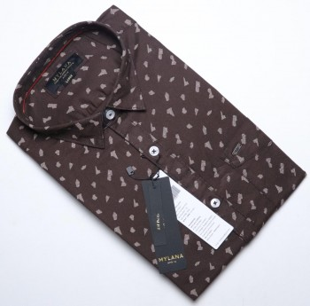 Men's chocolate printed casual shirts