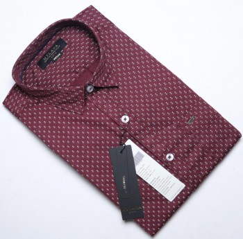 Men's Maroon printed casual shirts