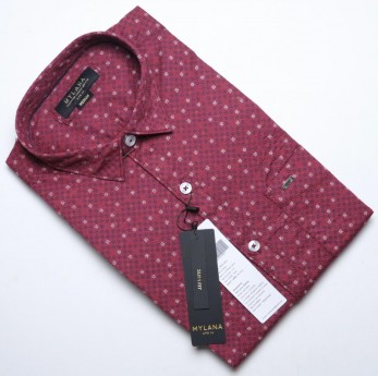 Men's pink printed casual shirts