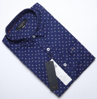 Men's blue printed casual shirts
